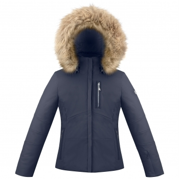 Poivre Blanc Ada Girls Ski Jacket in Gothic Blue