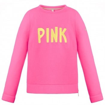 Poivre Blanc Girls Fleece Sweater in Ambrosia Pink