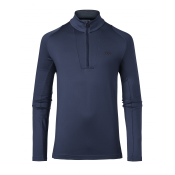 KJUS Speed Reader Mens 1/2 Zip Midlayer in Atlanta Blue