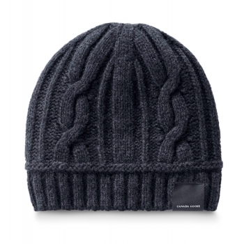 Canada Goose Cable Toque Womens Hat in Navy