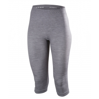 Falke Womens Wool Tech 3/4 Pants Tight Fit in Grey Heather