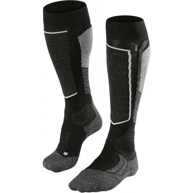 FALKE SK2 Mens Ski Socks in Black Mix