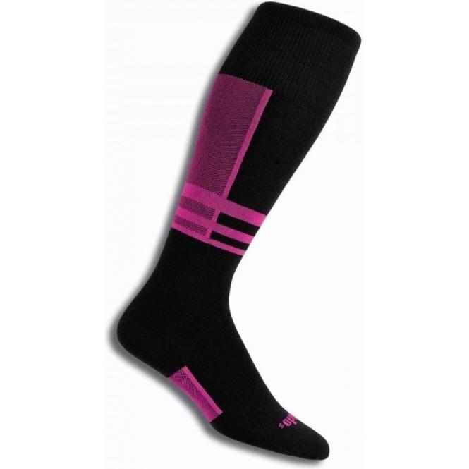 THORLO Thorlos S1TOU Ultra Thin Ski Sock In Schuss Pink