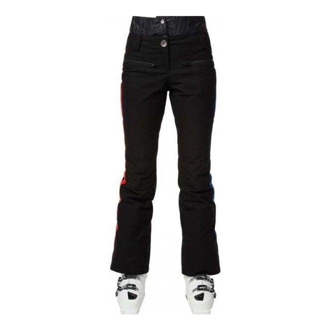 ROSSIGNOL JCC Yurok Womens Ski Pant in Black with Red Stripe