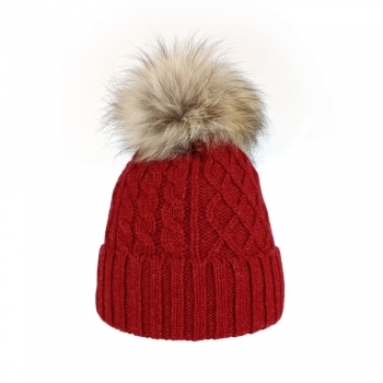 Steffner Mia Womens Ski Hat in Red
