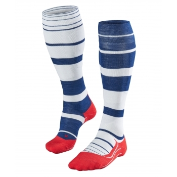 Falke SK4 Stripe Womens Ski Socks In Royal Blue