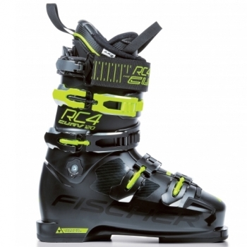 Fischer Ski Fischer RC4 Curv 120 Vacuum Full Fit Boot in Black and Yellow