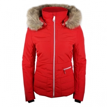 Poivre Blanc Amanda Womens Ski Jacket in Scarlet Red
