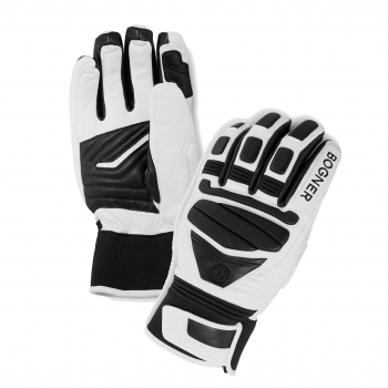 Bogner Siro Mens Ski Glove in Black And White