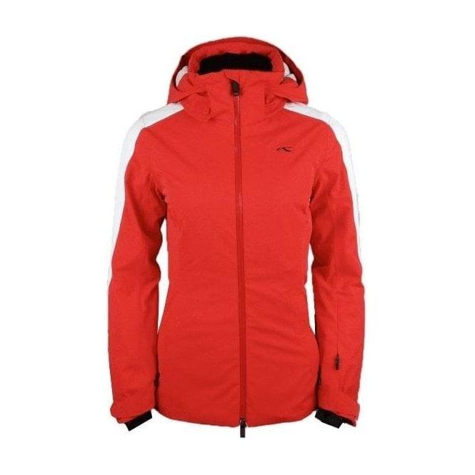 KJUS Formula Womens Ski Jacket in Fiery Red