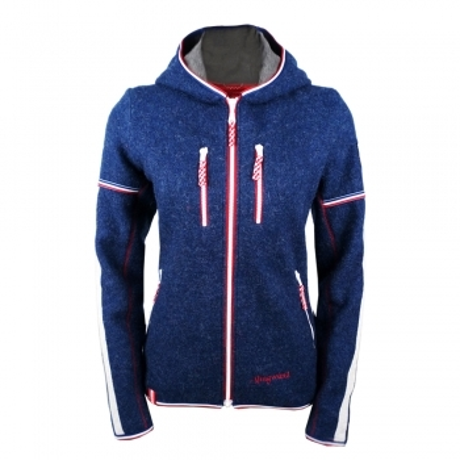 ALMGWAND Lauterberg Wool Womens Jacket in Denim and Grey