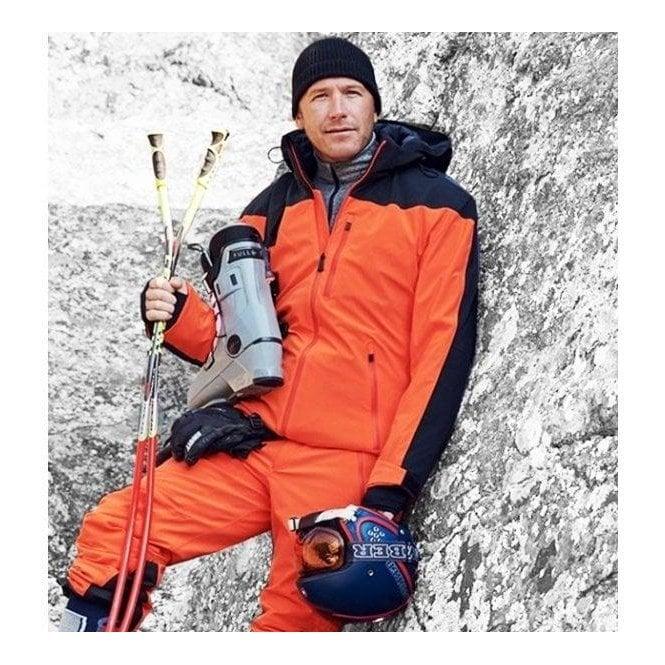 AZTECH MOUNTAIN Capitol Peak Mens Ski Jacket in Orange Crush Multi