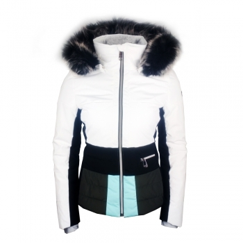 Poivre Blanc Amanda Womens Ski Jacket in White Multi