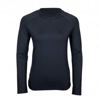 Poivre Blanc Roundneck Womens Baselayer Top in Gothic Blue