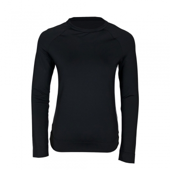 Poivre Blanc Roundneck Womens Baselayer Top in Black