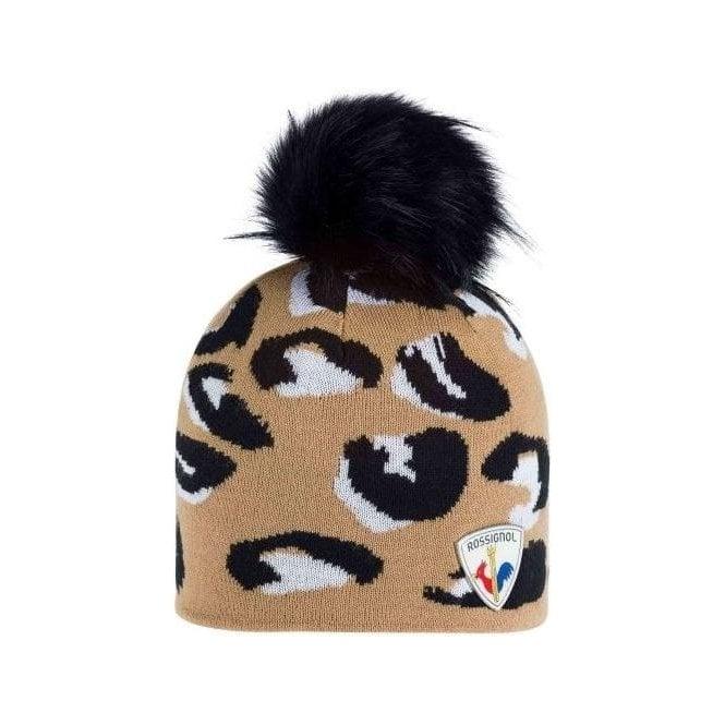 ROSSIGNOL JCC Hurons Womens Ski Hat in Camel
