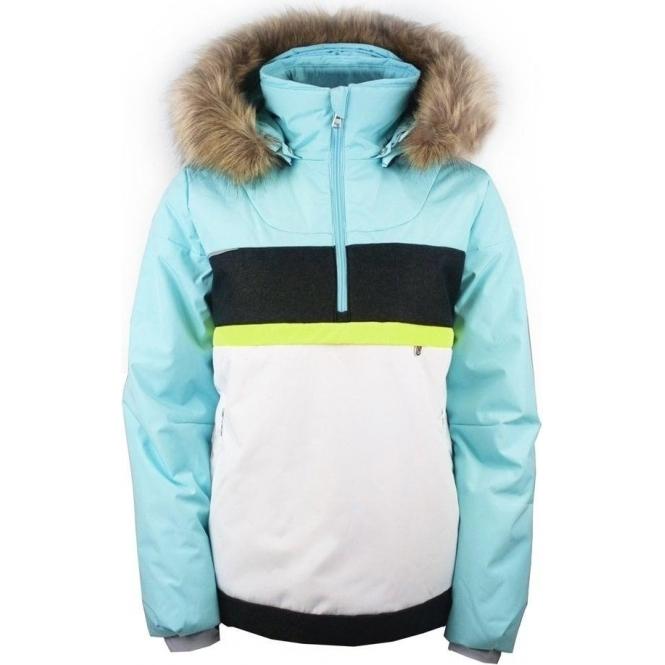 9d61578ae Poivre Blanc Alice Smock Girls Ski Jacket in Dream Blue