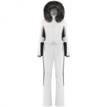 Poivre Blanc Beatrice One Piece Ski Suit In White Multi