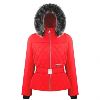 Poivre Blanc Bethany Womens Jacket in Scarlet Red