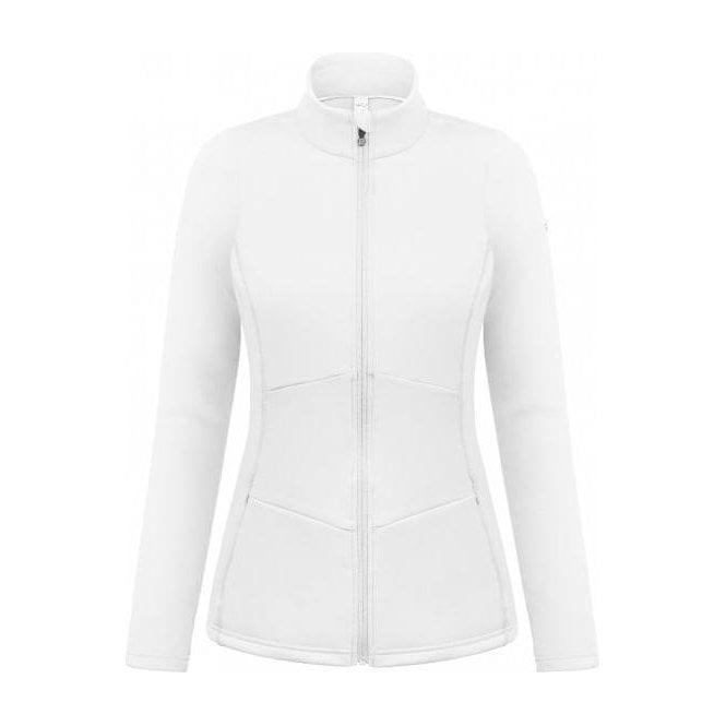 POIVRE BLANC Blair Womens Stretch Fleece Midlayer in White