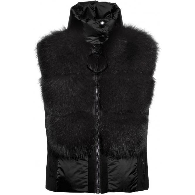 GOLDBERGH Adda Fur Womens Bodywarmer in Black