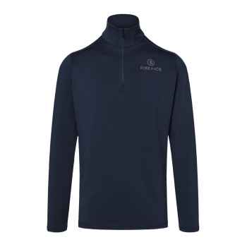 Bogner Fire+Ice Pascal Mens Baselayer Top in Navy