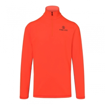 Bogner Fire+Ice Pascal Mens Baselayer Top in Orange