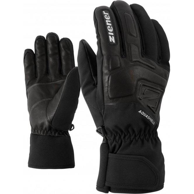 ZIENER GLOVES Glyxus AS Mens Ski Glove in Black