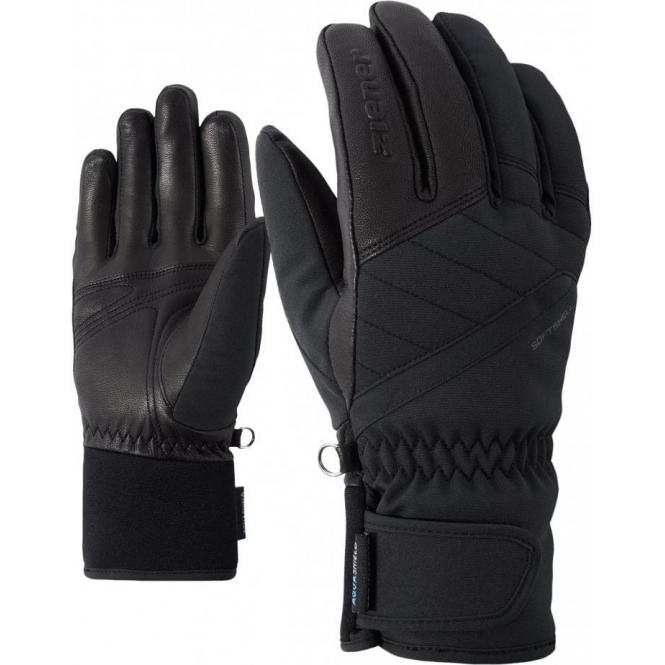 ZIENER GLOVES Kasada AS Womens Ski Glove in Black