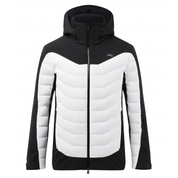 KJUS Sight Line Mens Jacket in Black and White