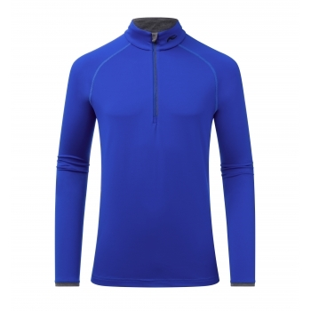 KJUS Feel Half Zip Mens Baselayer in Wintersky