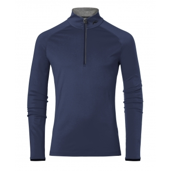 KJUS Feel Half Zip Mens Baselayer in Atlanta Blue