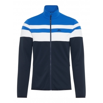 J.Lindeberg Moffit Mid Jacket Tech Jersey Midlayer in Pop Blue