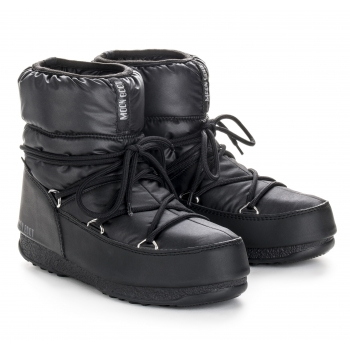 MOON BOOT Low Nylon Winter Boot in Black