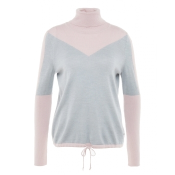 BOGNER Xena Womens Knitted Midlayer in Grey and Rose