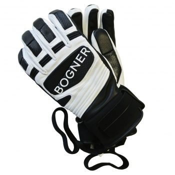 Bogner Silvo Mens Ski Glove in Off White