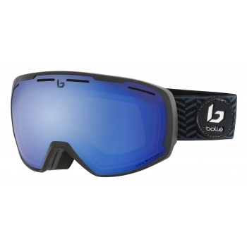 Bolle Laika Ski Goggle in Matte Black Waves with Phantom + Lens