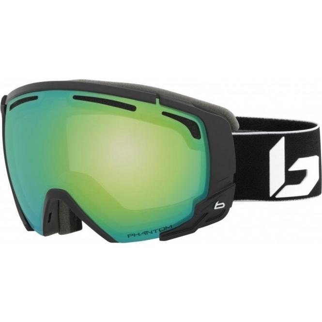 BOLLE Supreme OTG Goggle in Matte Black with Phantom Green Emerald