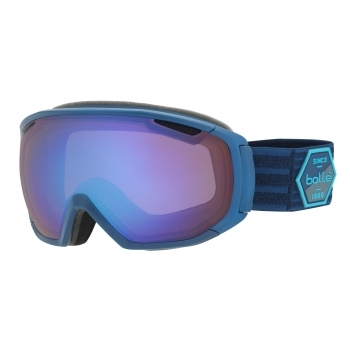 Bolle Tsar Ski Goggle in Matte Blue Patch with Aurora Lens