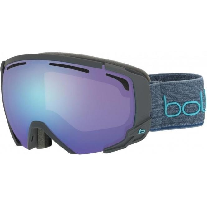 BOLLE Supreme OTG Goggle in Matte Dark Grey with Blue Aurora