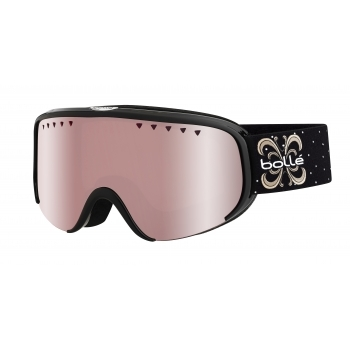 Bolle Scarlett Ski Goggle in Shiny Black Night with Vermillon Gun Lens