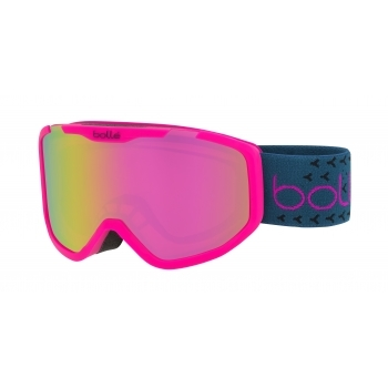 Bolle Rocket Plus Kids Ski Goggle in Matte Pink With Rose Gold