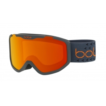 Bolle Rocket Plus Kids Ski Goggle in Matte Dark Grey With Sunrise