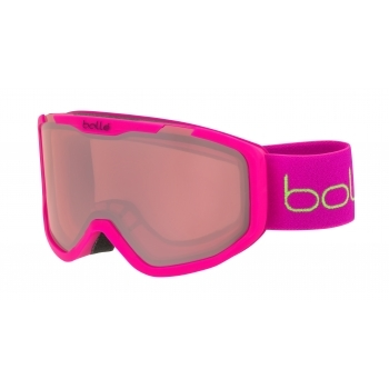 BOLLE Rocket Kids Ski Goggle in Matte Pink Bear With Vermillon Lens