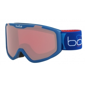 Bolle Rocket Kids Ski Goggle in Matte Blue Aerospace with Vermillon