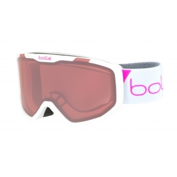 Bolle Rocket Kids Ski Goggle in Matte White Race With Vermillon Lens