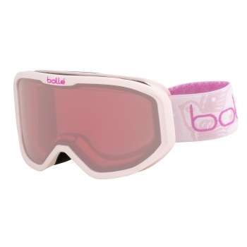 BOLLE Inuk Kids Ski Goggle in Matte Pink Princess With Vermillon Lens