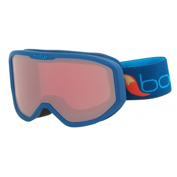 Bolle Inuk Kids Ski Goggle in Matte Blue Fox With Vermillon Lens