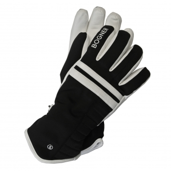 Bogner Naila Womens Glove in Black and Offwhite
