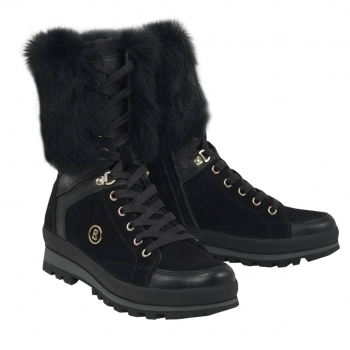 Bogner St Anton Womens Snow Boot in Black and Gold